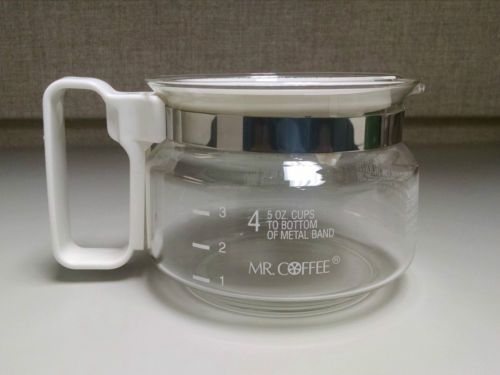 Mr Coffee Glass 4 Cups Replacement Carafe Pot White For 5 Oz Cups Mr Coffee Glass Carafe