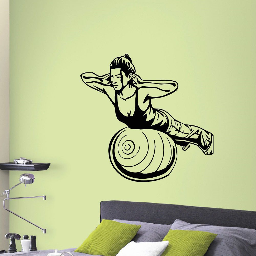 Fitness Girl Wall Art Sticker Decal | Products | Pinterest | Online ...