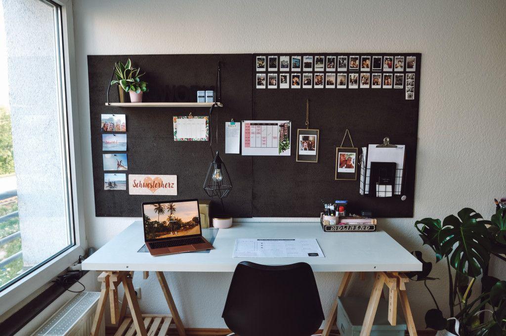 DIY Pinnwand - für mehr Ordnung am Schreibtisch