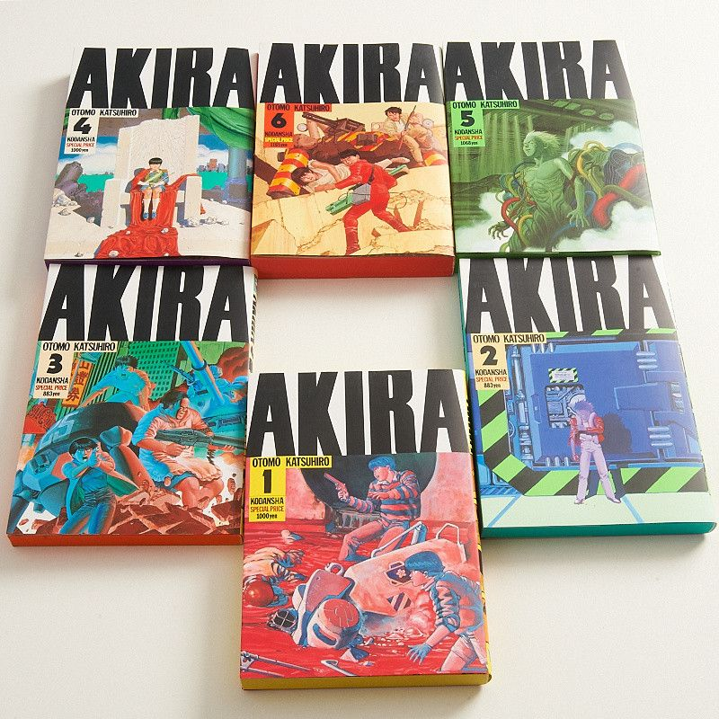 Akira Manga Volumes 1 6 Set Akira Manga Akira Akira Film