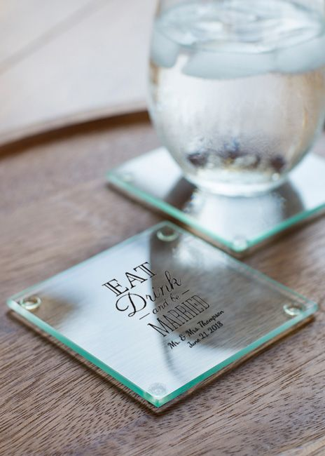 Personalized Glass Coasters Set Of
