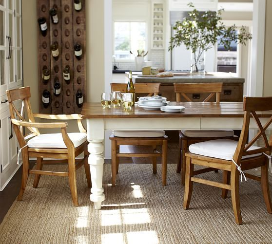 Keaton Extending Dining Table  French White  Pottery Barn Prepossessing Dining Room Pottery Barn Inspiration Design