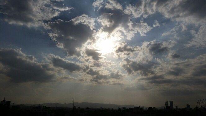 nubes #cloud #nuvol #white #blue #rayosdelsol #tarde