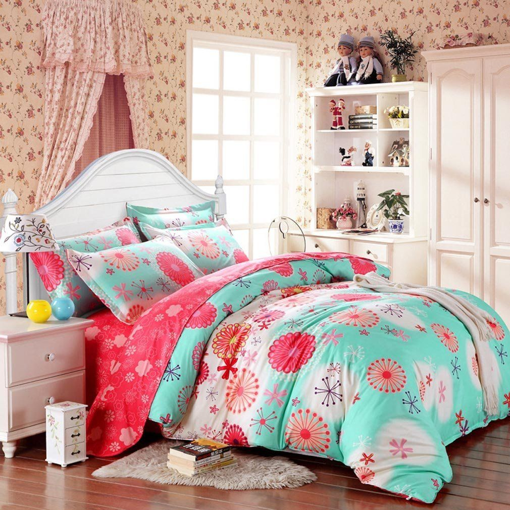 teen pretty natural cotton p green bed bedding of pale sets girl