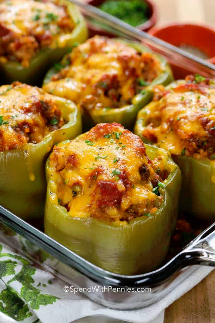 Stuffed Peppers Are A Fancy Way To Serve Peppers They Are So Easy Delicious And Impressive Enough To Serve Stuffed Peppers Recipes Easy Stuffed Pepper Recipe