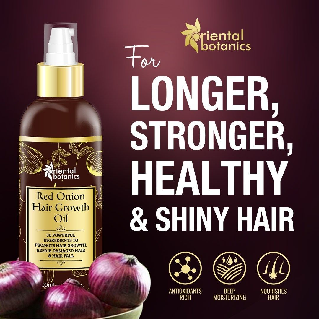 Red Onion Hair Growth Oil, 200ml With 30 Oils & Extracts