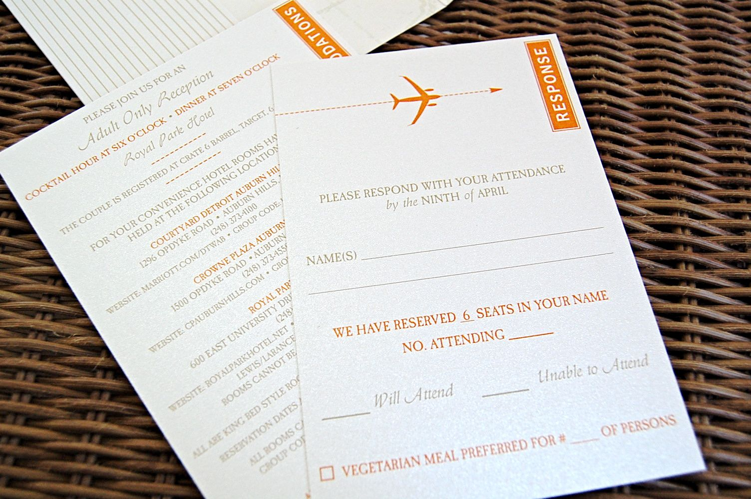 Travel Themed Wedding | Vintage Airmail Invitations & Passport ...