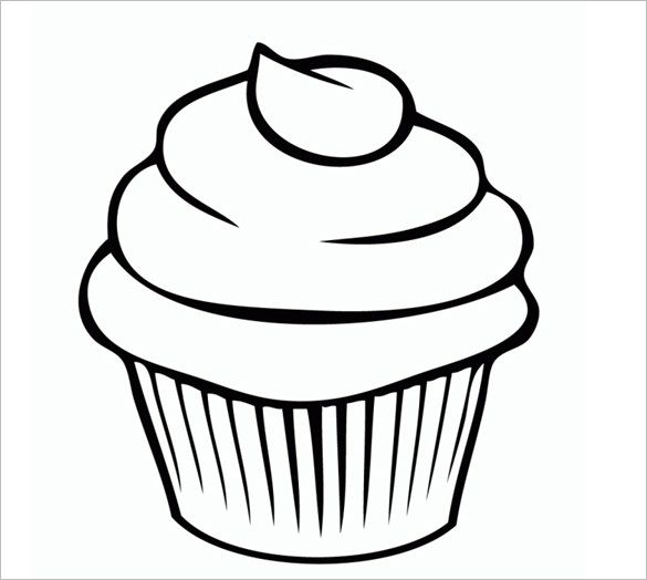 picture regarding Printable Cupcakes identified as Printable Cupcake Template - 25+ EPS, Phrase Files