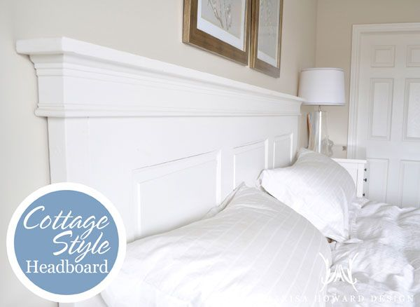 recycled door headboard you can find out more about this project rh pinterest com cottage style metal headboards cottage style bed headboards