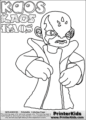 printable or online colorable skylanders swap force coloring page with the evil master of the skylanders - Skylander Coloring Pages Print