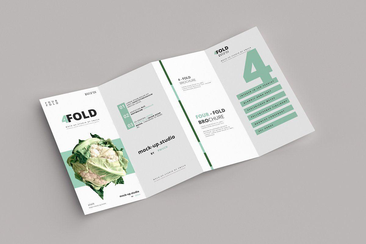 FourFold (4 fold) Brochure Mockups in 2020 Brochure