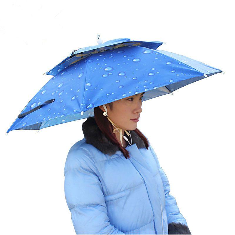 Outdoor Multifunction Foldable Sunny And Rainy Double Layer Umbrella Hat Cap For Fishing Camping Cycling Camping Hik Women Camping Fishing Umbrella Uv Umbrella