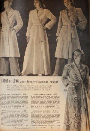 1940s Sleepwear Nightgowns Pajamas Robes Bed Jackets Vintage