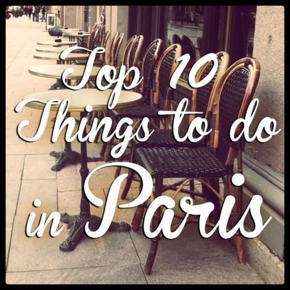 For Susan :) Top 10 Things to do in Paris... I agree with this list with one exception - Velib bikes must be rented with a European credit card since American cards don't have the correct chip inside them