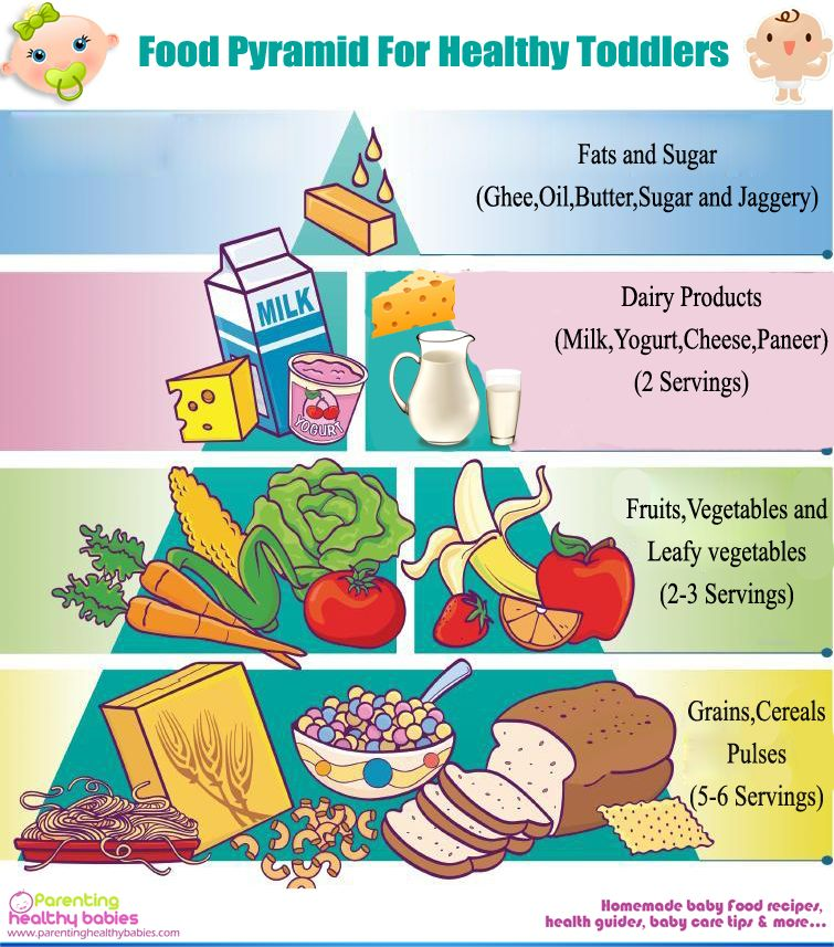 Food Pyramid and Vegetarian Balanced Diet for Your Super Healthy Toddler | Baby Food Recipe ...