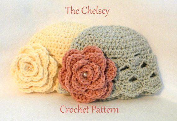 1a2eacf6cbf Crochet PATTERN Baby Hat PATTERN The Chelsey Baby Hat Pattern