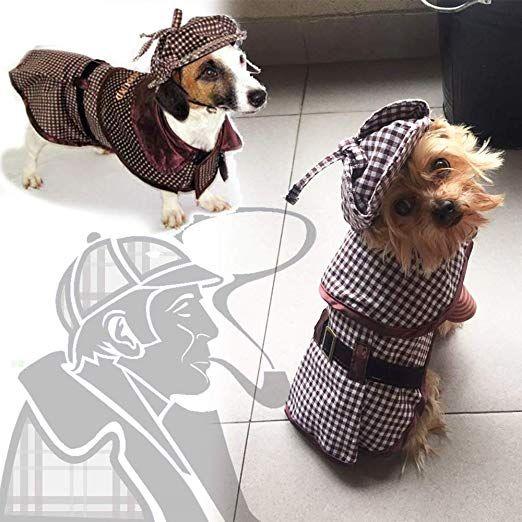 Coppthinktu Sherlock Holmes Dog Costume Famous Detective Dogs