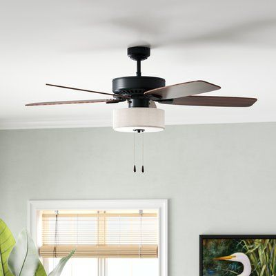 Bay Isle Home 40 Harkers 40 Blade LED Ceiling Fan In 40 Products Amazing Wall Fans For Bedrooms Plans