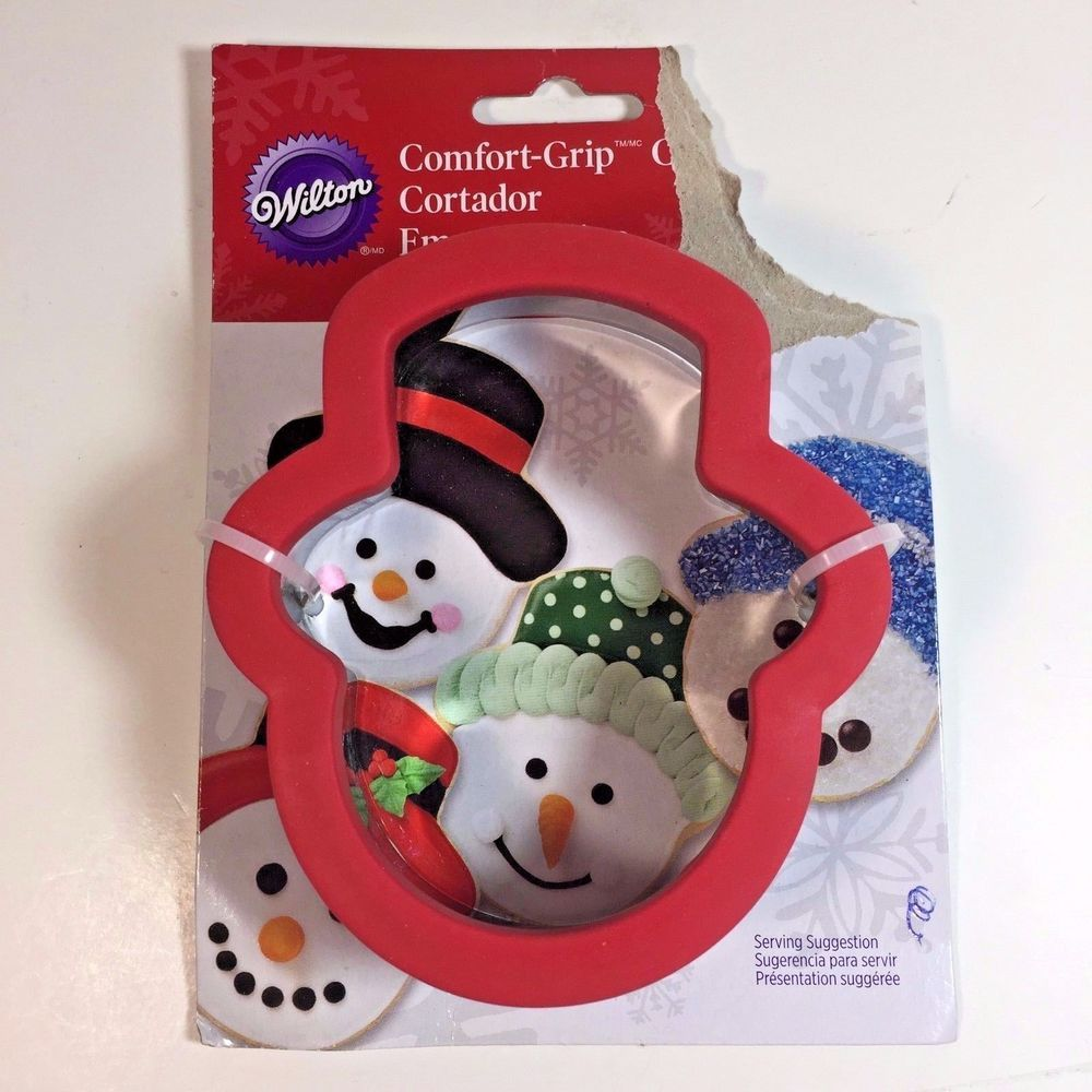 Wilton Comfort Grip Cookie Cutter Christmas Snowman Head Stainless
