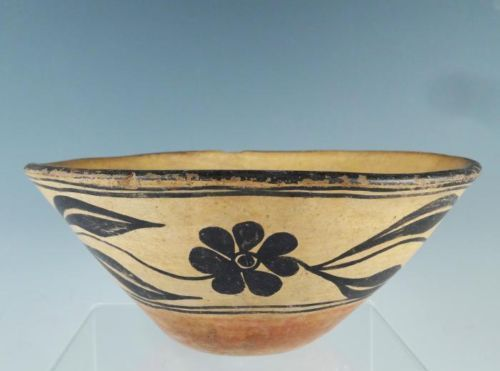Early 20c American Indian Santo Domingo Pueblo Floral Hand Painted Bowl | eBay