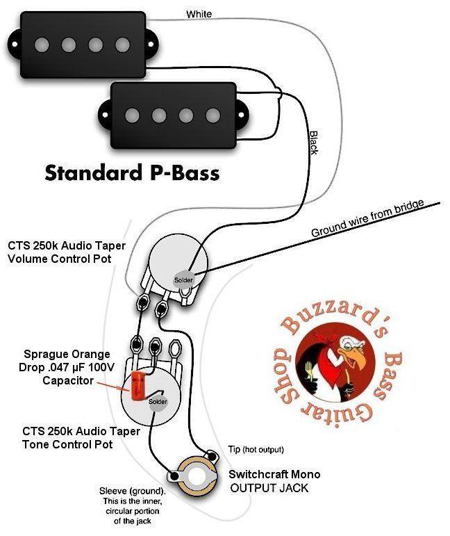 pbass wiring diagram  fender precision bass bass guitar