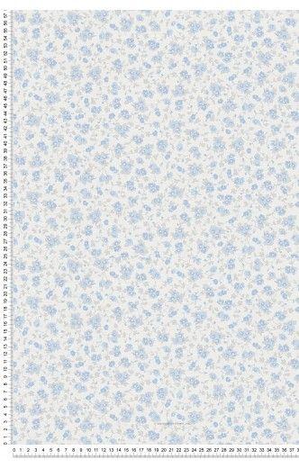 Liberty bleu - Papier peint Liberté d\'AS Création   Chambre d\'amis ...