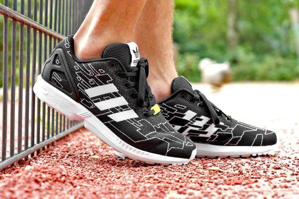newest 37031 f1a3f adidas Originals ZX Flux Weave Black/Running White/Onix ...
