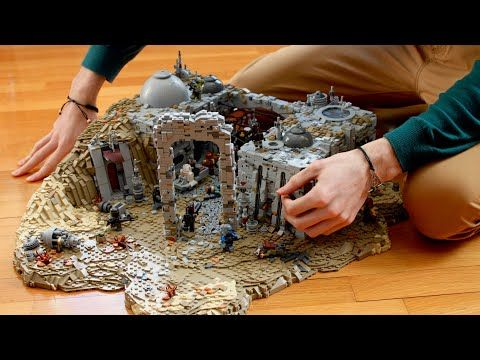 Photo of TIMELAPSE: The Mandalorian Ruin City Battle Nevarro LEGO Star Wars MOC