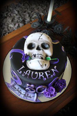 Sensational Skull Birthday Cakes Skull And Roses Birthday Cake Rezepte Birthday Cards Printable Inklcafe Filternl