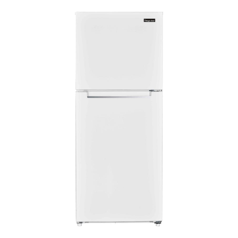 Magic Chef 10 1 Cu Ft Top Freezer Refrigerator In White Hmdr1000we The Home Depot In 2020 Top Freezer Refrigerator Magic Chef Refrigerator
