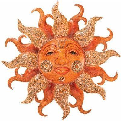 Outdoor Sun Face Wall Art by Regal Art  sc 1 st  Pinterest & Outdoor Sun Face Wall Art by Regal Art | the sun ? the moon ...