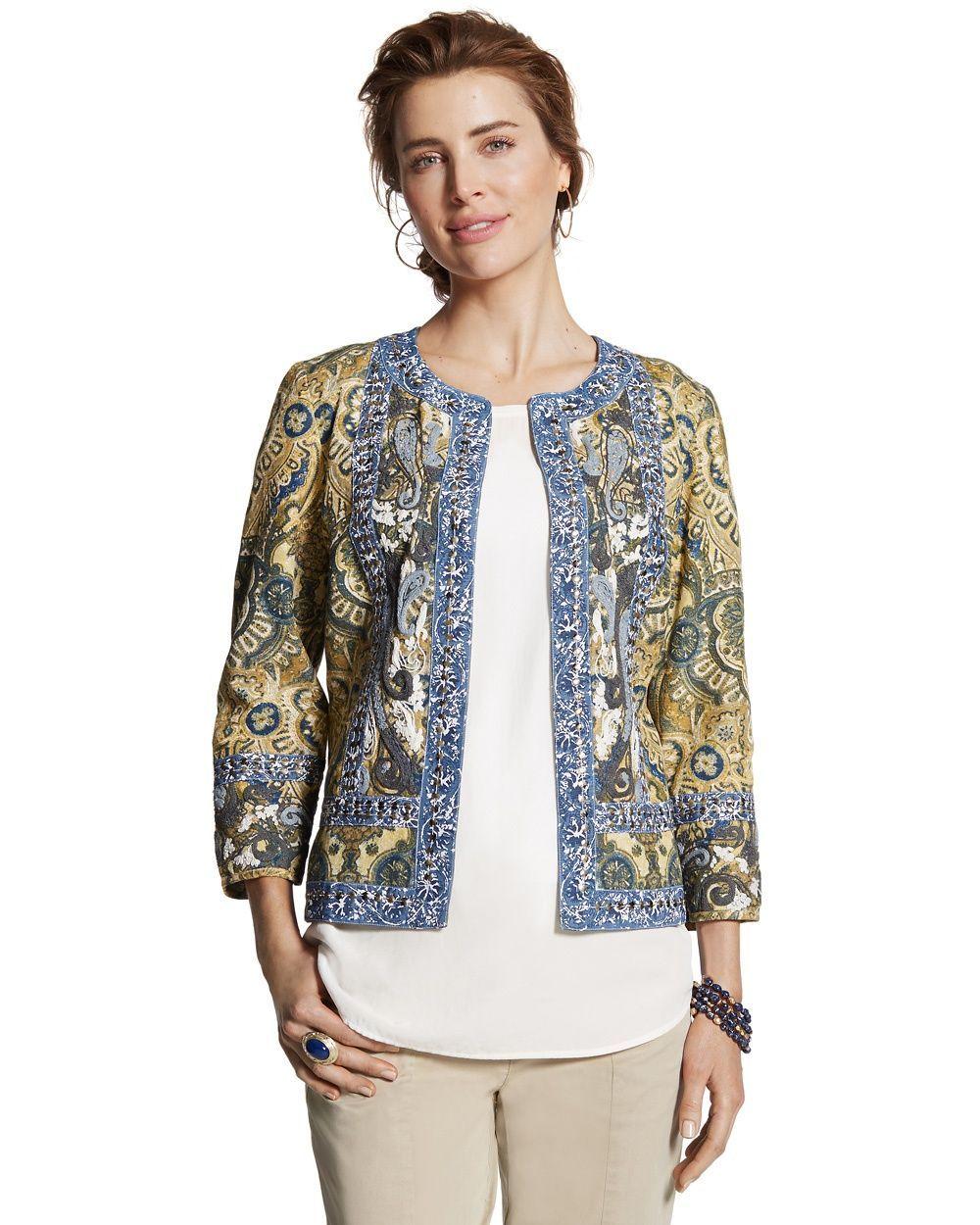 Chico's Women's Pawleys Island Jacket, Viking Blue, Size: 2 (12/14, M)