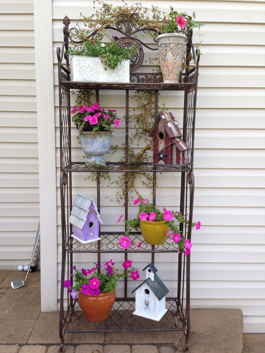 Bakers Rack I Got At A Garage Sale Love It As A Plant