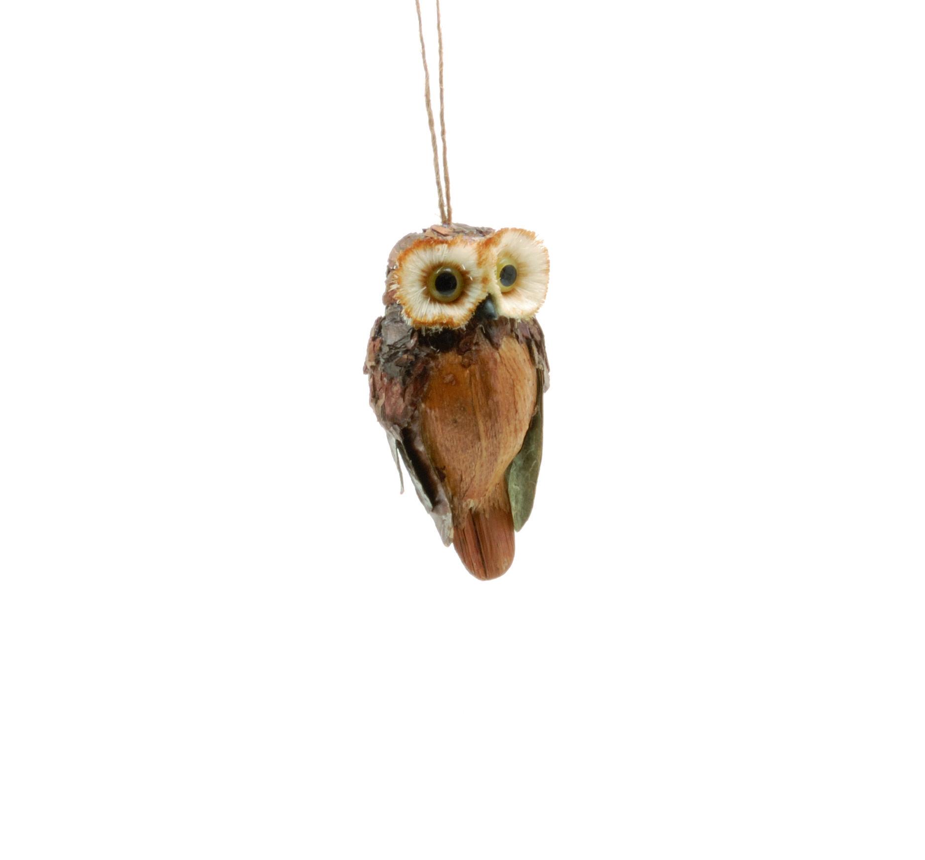 Natural Bark Owl Hanging Christmas Tree Ornament #ukchristmasworld #barnsley #christmas #decoration #festive #hanging #christmastree #display http://www.ukchristmasworld.com/Shop/Christmas-Tree-Decorations/Christmas-Tree-Decorations/5194-Natural-Bark-Owl-Hanging-Christmas-Tree-Ornament.html