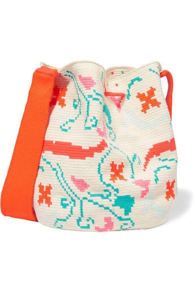 Coton crocheté multicolore  Fermeture à cordon de serrage  Poids approximatif : 0,8 kg