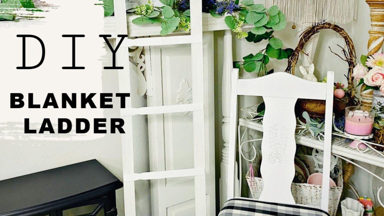 """🍃DIY BLANKET LADDER DECOR CRAFT🍃""""Let's stay home"""" ep 1"""