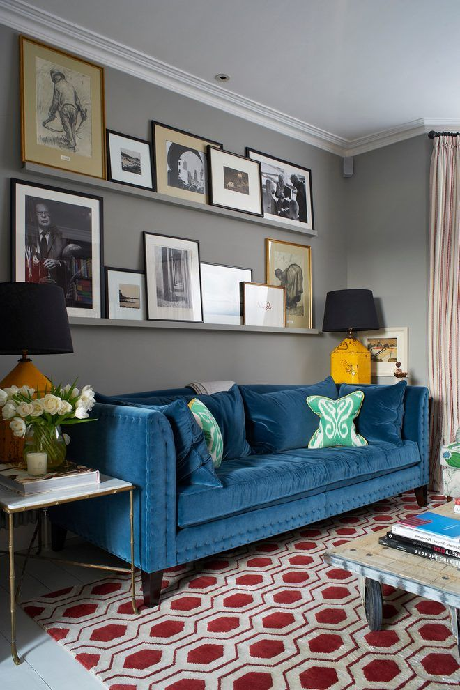 Colourful Living Room Living Room Transitional With Blue Sofa Red Patterned Rug Teal Living Rooms Living Room Colors Elegant Living Room #teal #and #red #living #room #ideas