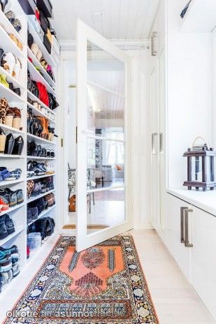 Shoes in the mudroom