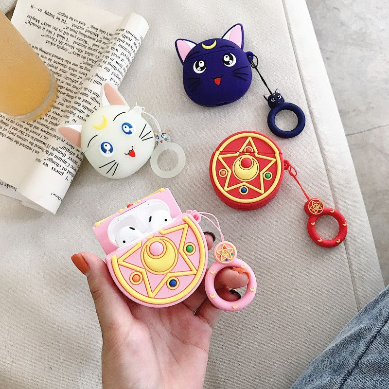 Cute Cartoon Animal Cat Silicone Key Holder Case Bag Wallet Pendant Accessories