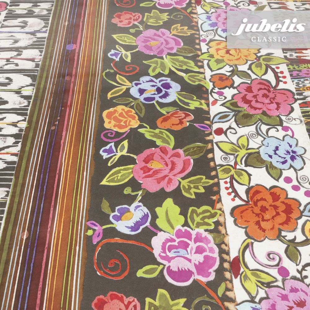 jubelis material wachstuch f r tischdeko und zum n hen geeignet design jasmin retro vintage. Black Bedroom Furniture Sets. Home Design Ideas