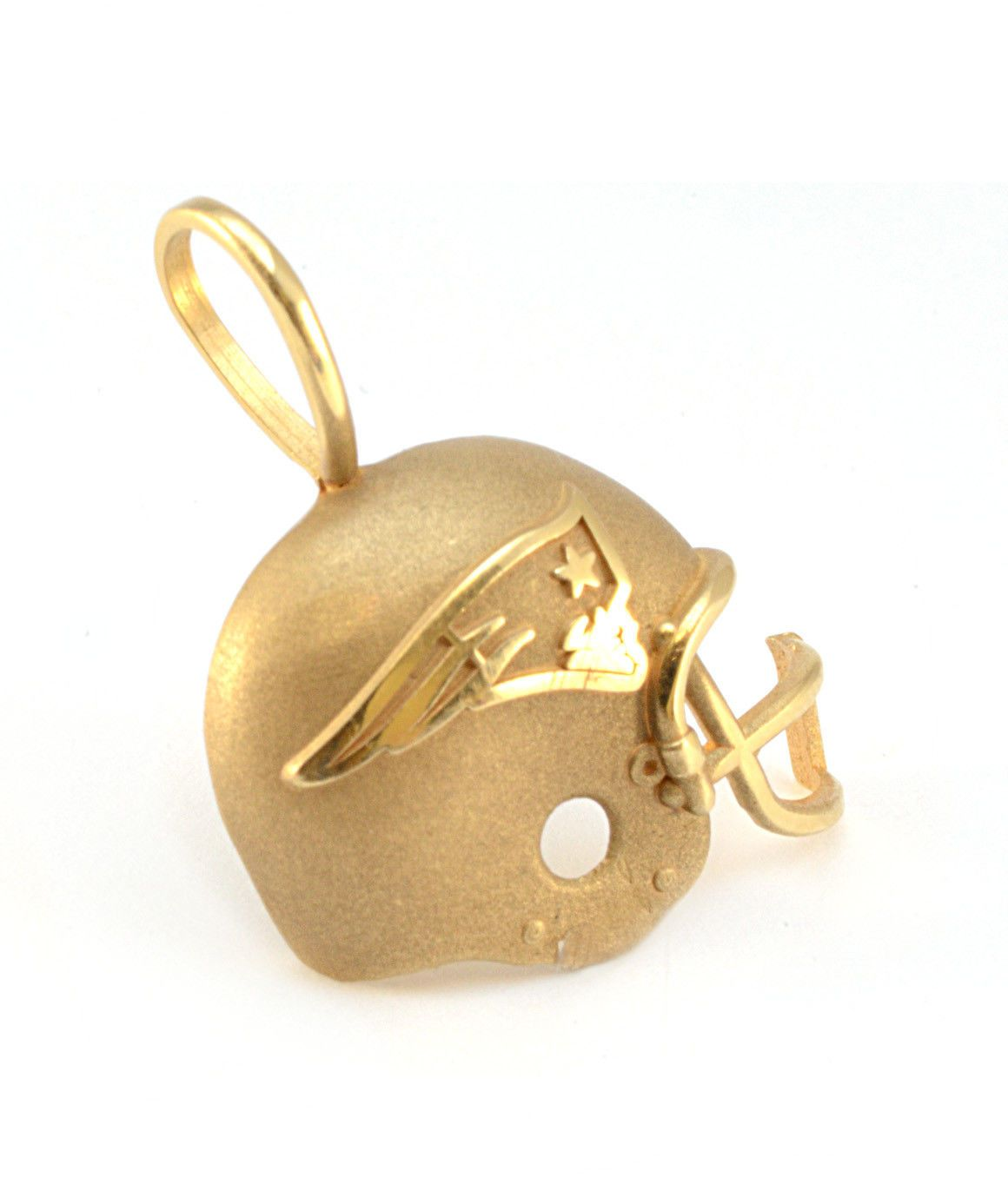 Solid 14k Yellow Gold New England Patriots Helmet Pendant 2 2g New England Patriots Helmet New England Patriots 14k Yellow Gold