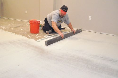 How To Level A Subfloor Before Laying Tile House Pinterest - How to level floor for laminate on concrete