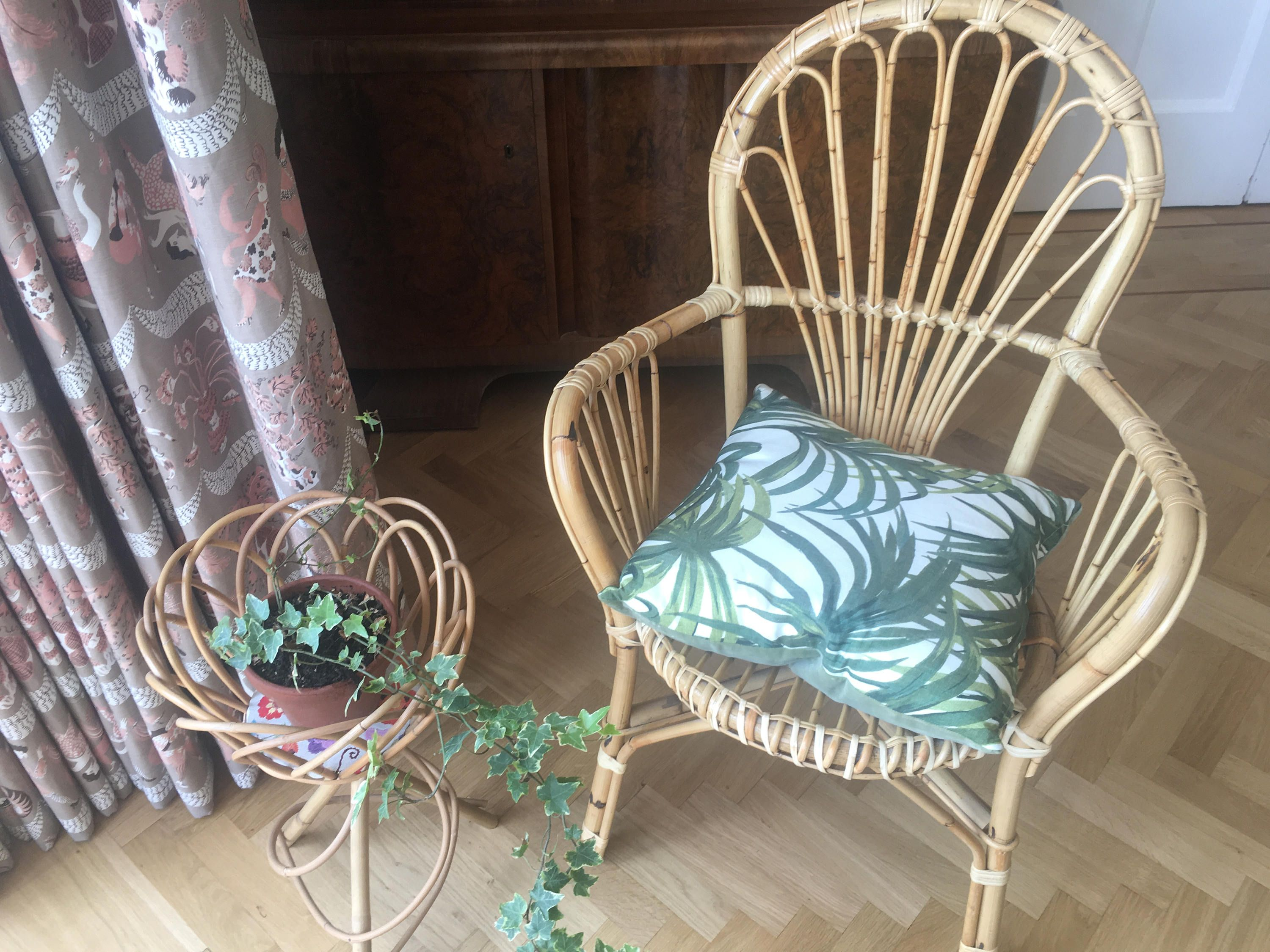Mid Century Bamboo Cane Bentwood Armchair Excellent Condition by