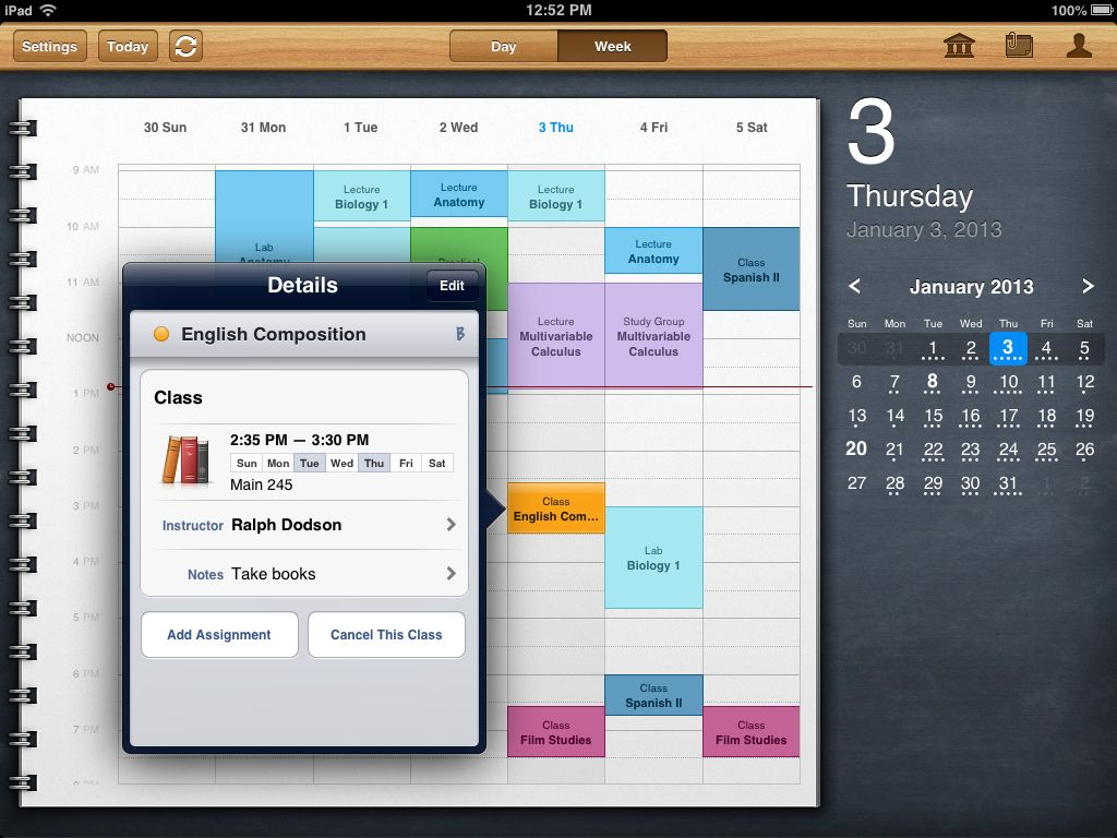 iStudiez Pro for your Mac, iPhone, iPad. Another great app
