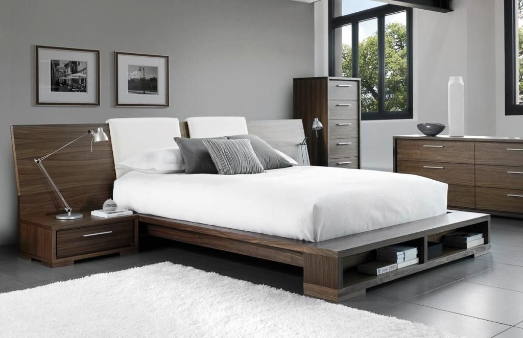 Queen Size Modern Beds Simple Bed Frame