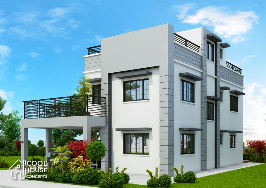 Modern Contemporary House With Five Bedrooms Cool House Concepts Modern House Plans House Layout Plans House Design