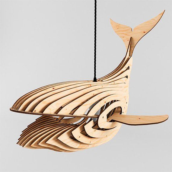 Whale Lamp 3d File Contains 2 Models For 3 Mm 1 8 Material And For 4 Mm Approximate Dimensions Length 19 Inch In 2020 Whale Lamp Woodworking Tools Woodworking Box