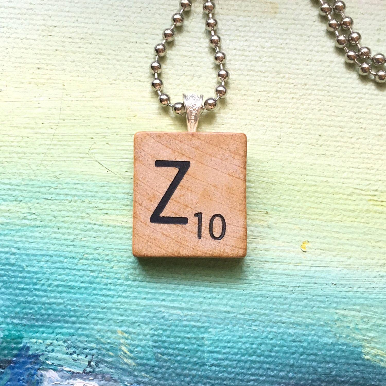 Vintage 1953 scrabble tile pendant necklace initial necklace vintage 1953 scrabble tile pendant necklace initial necklace letter z scrabble letters aloadofball Choice Image