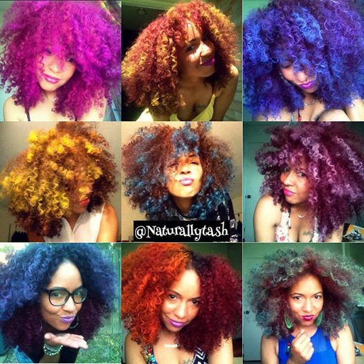 The wonders of hair chalk or eye shadow no dyes needed