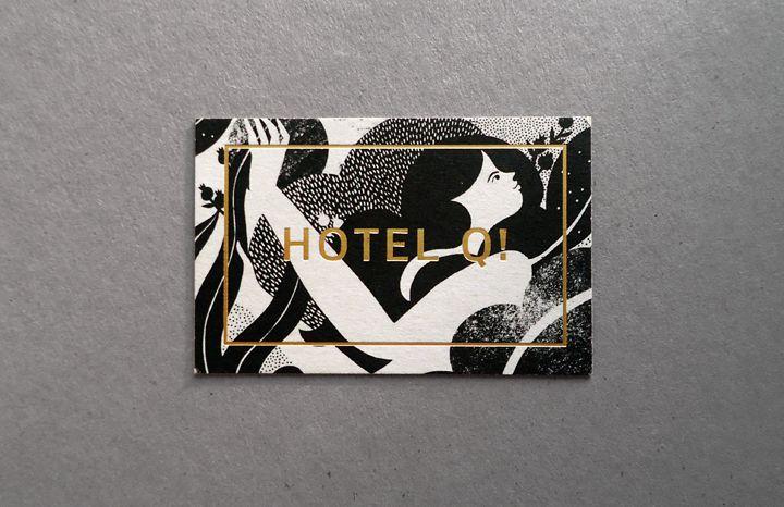 Hotel Q Gold Foil Business Cards Foil Business Cards Graphic Design Branding